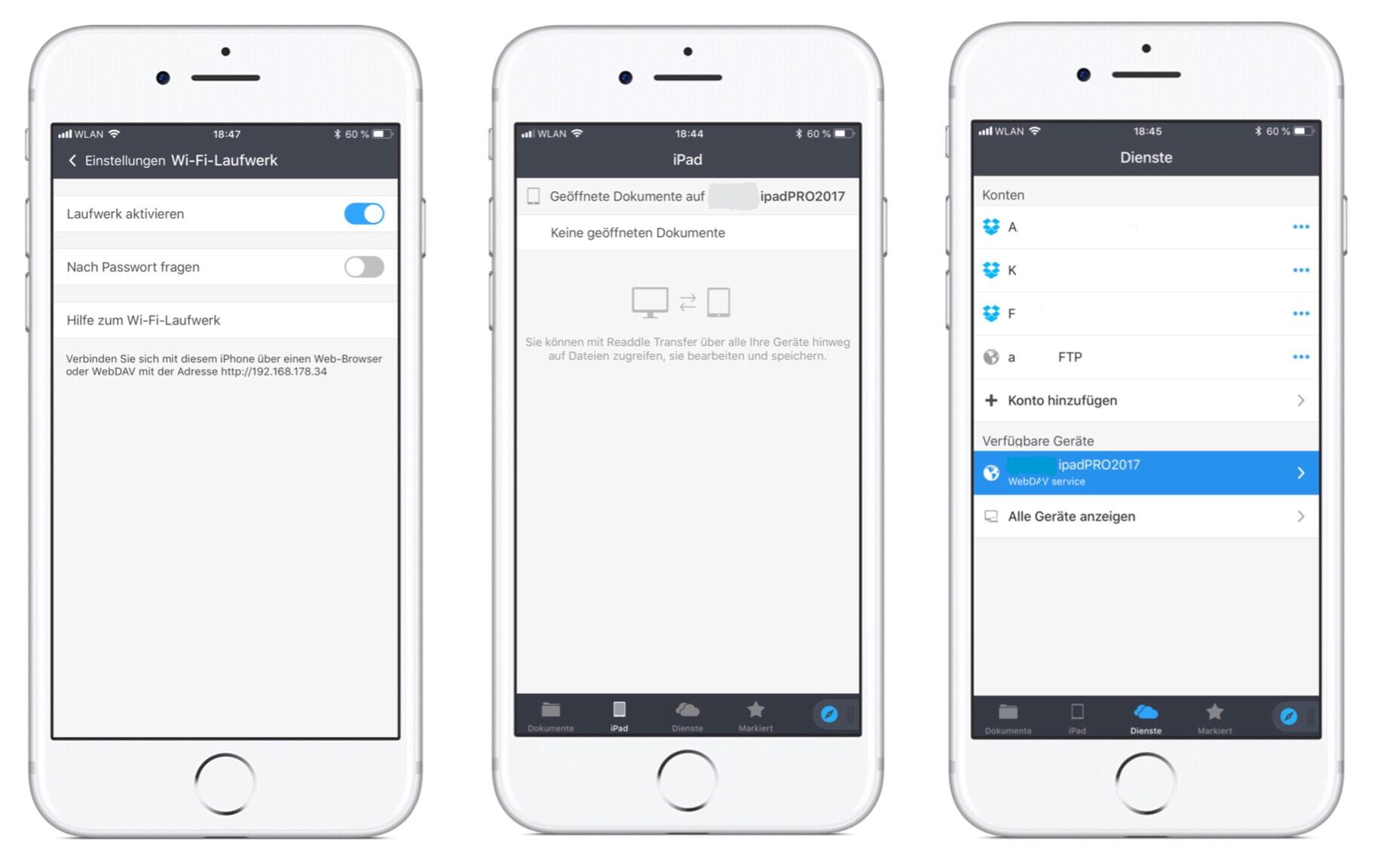 Synchronisieren von Daten zum PC, MAC oder iPad usw!