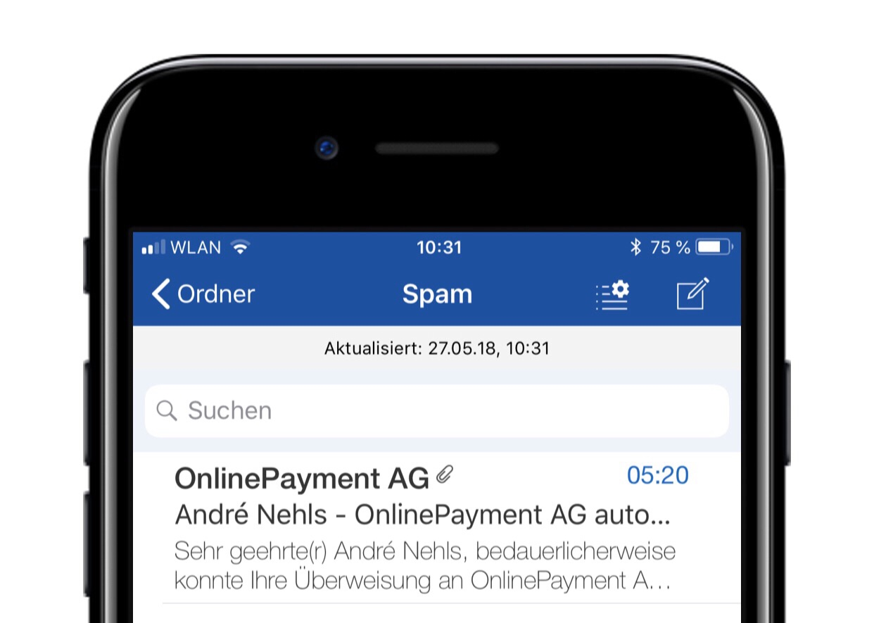 Titelbild - Spam Mail