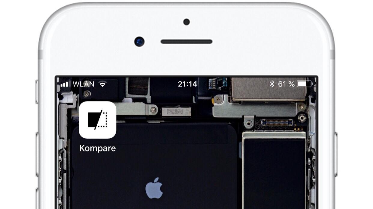 Kompare - Eine iOS-Systemerweiterung für den besseren vergleich von Fotos