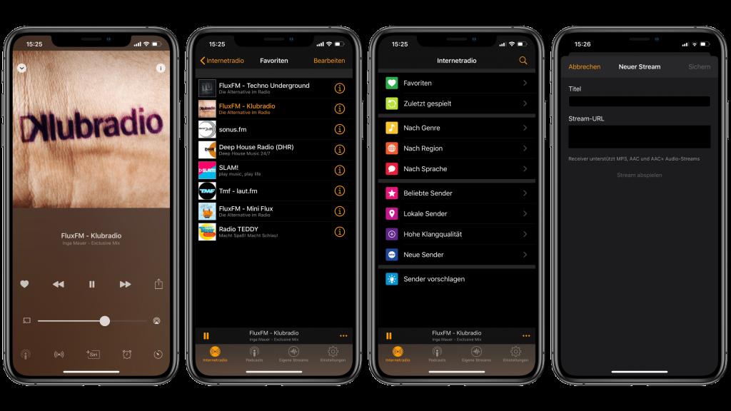 Radio Receiver App - Die Ansicht