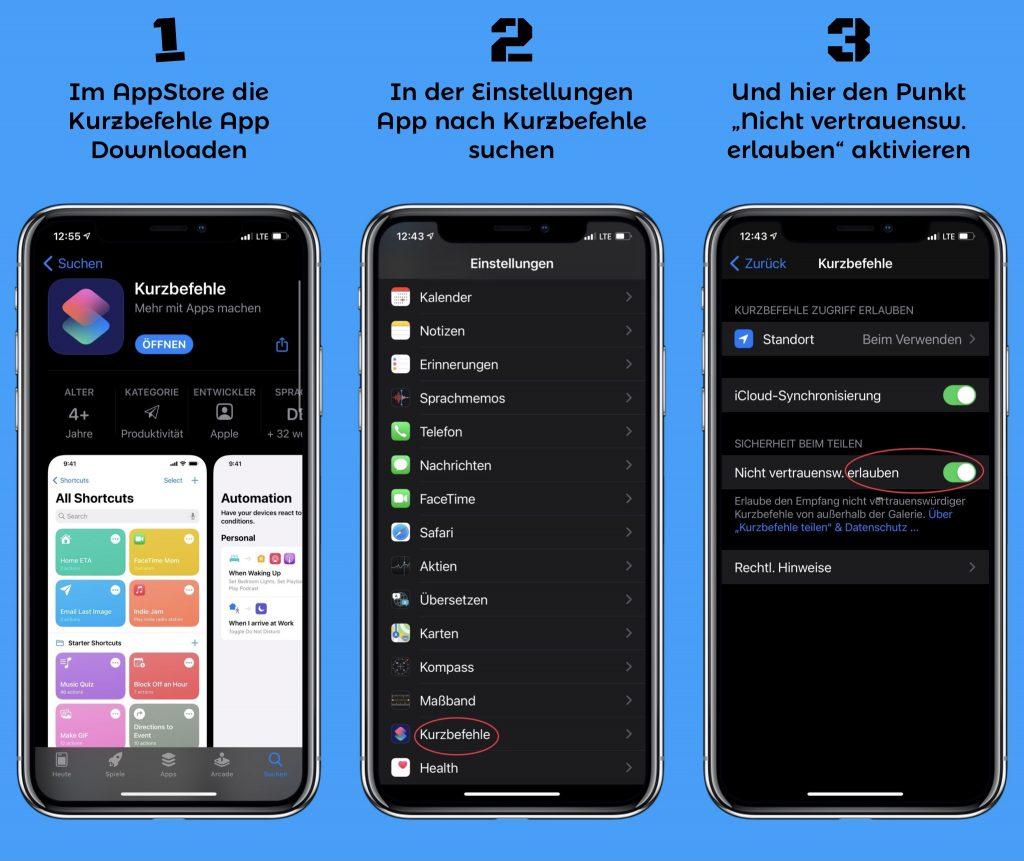 Download Kurzbefehle App