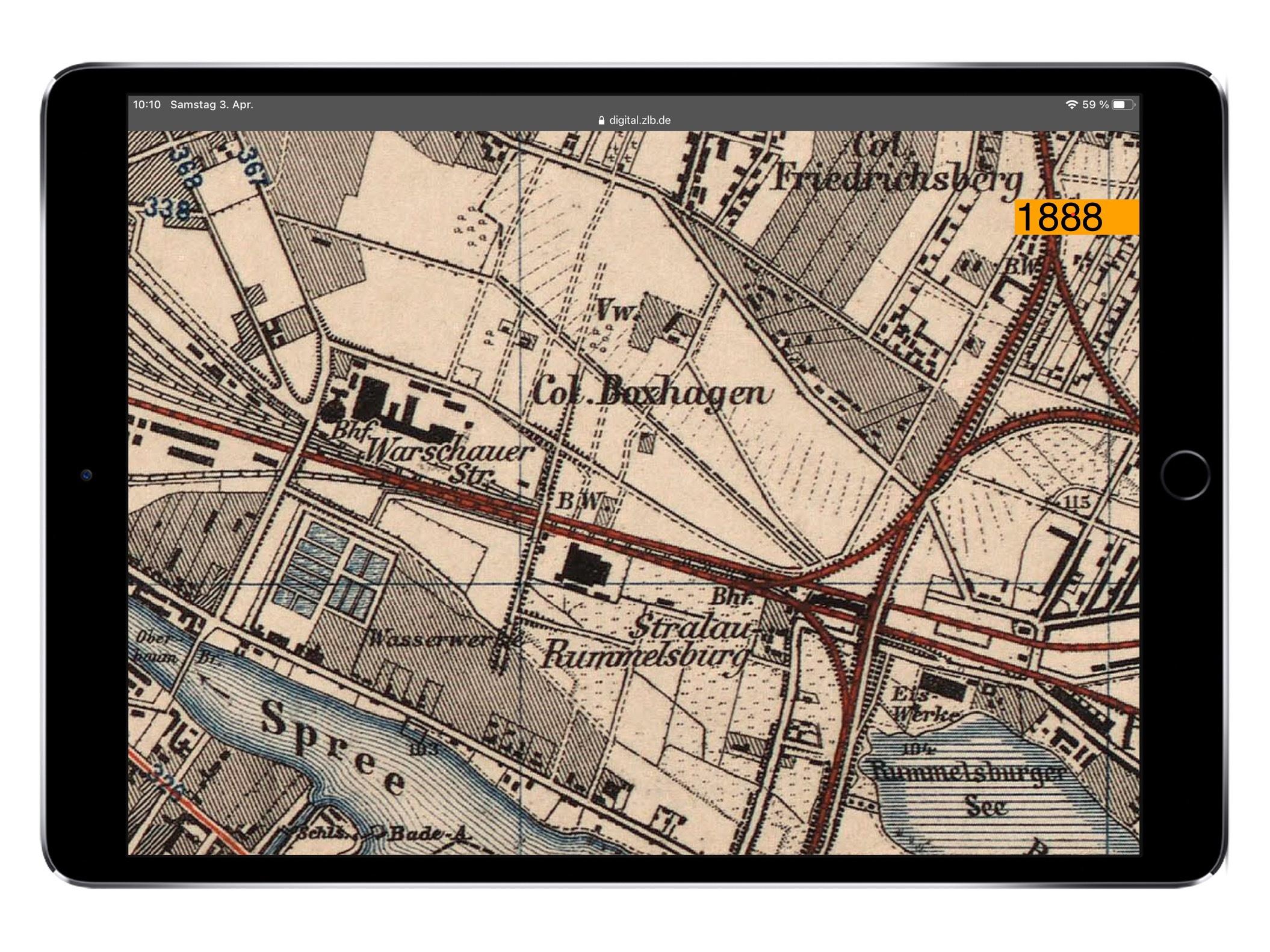 Titelbild - So sah der Bezirk Friedrichshain zu 1888 aus.