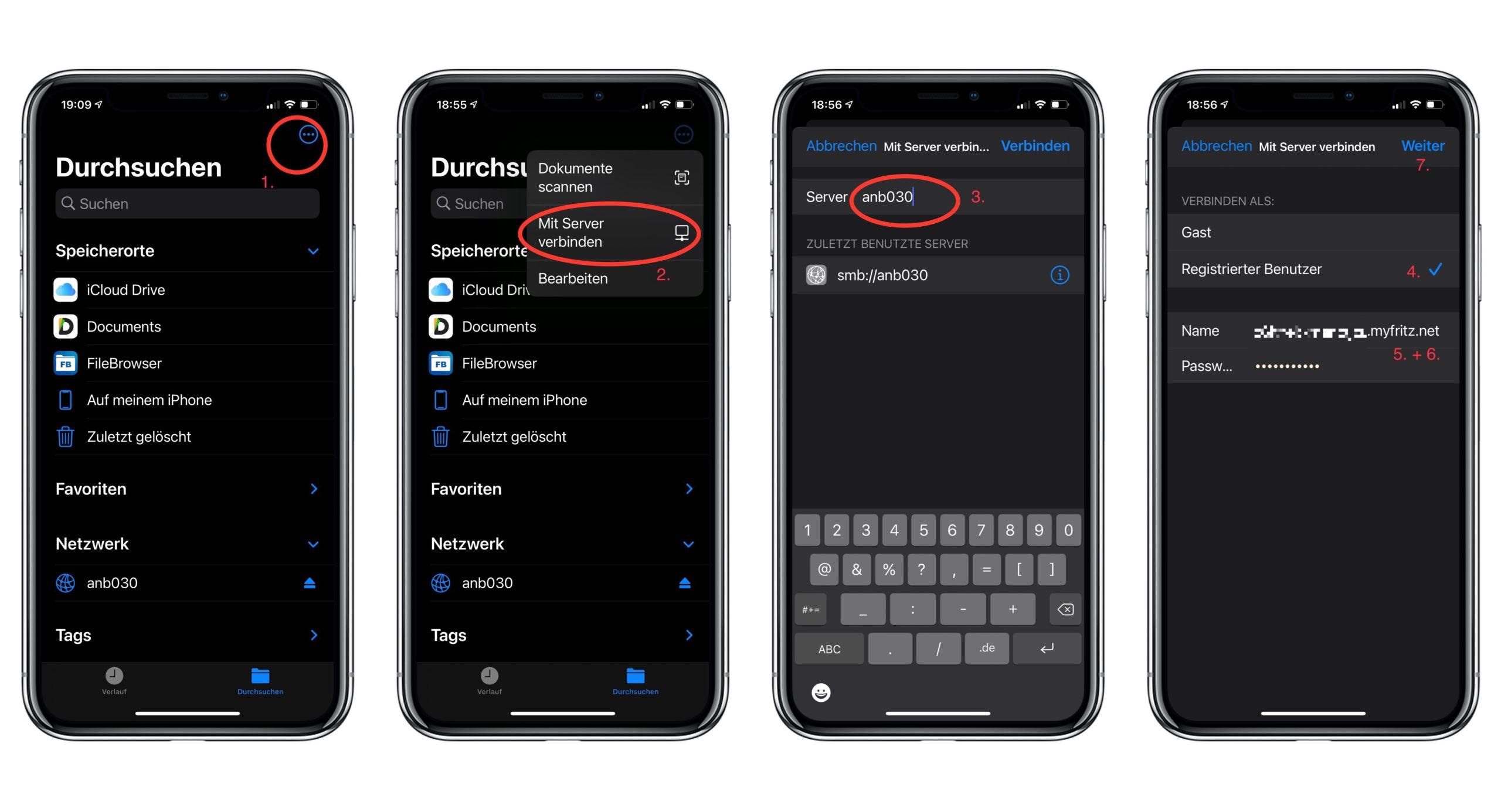 Die Fritz!NAS am iPhone / iPad einrichten in der DATEIEN-APP